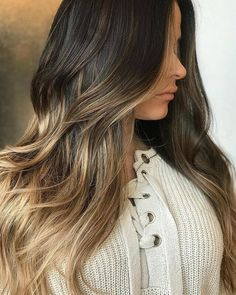 Black Coffee Hair With Ombre Highlights - 10 Cool Ideas of Coffee Brown Hair Color - The Trending Hairstyle Ombre Highlights, Brown Hair With Blonde Highlights, Brown Ombre Hair, Bright Blonde, Brown Balayage, Brown Hair Colors, Blonde Balayage, Blonde Ombre, Blonde Tips