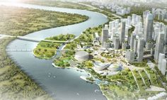 Master Plan Revealed for Binhai Eco City in Tianjin. Courtesy of Holm Architecture Office
