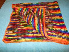 knit toddler blanket teen blanket adult blanket by KnittingWize