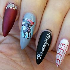 Krampus nail art design 12/10/2015