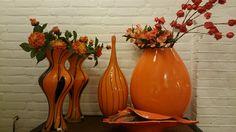 Oranje mondgeblazen vazen | VIA CANNELLA WOONWINKEL | CUIJK