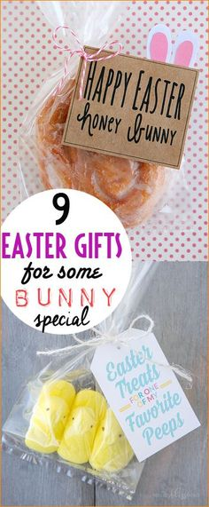 9 Easter Gifts for Some Bunny Special!  Darling Easter gifts with punny sayings.  Quick and easy gifts for all ages.