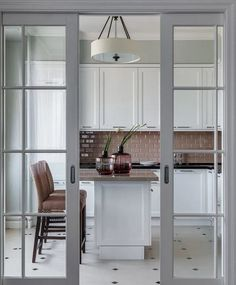 45 Best Interior Sliding Doors Design Ideas To Inspire You Kitchen Sliding Doors, Sliding Door Design, Kitchen Glass Doors, Home Room Design, Home Interior Design, House Design, Open Plan Kitchen Living Room, Decoration Inspiration, Decor Ideas