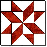 "Diamond Star block tutorial.  This makes a 12"" block, and has been around since about 1896."