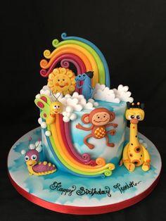 BabyTV cake - cake by Nightwitch Birday Cake, Cupcake Cakes, Baby Tv Cake, Safari Cakes, Friends Cake, Beautiful Birthday Cakes, Fondant, Adult Birthday Cakes, Little Cakes