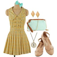 """Kit Kittredge Floral Dress"" by camik on Polyvore"