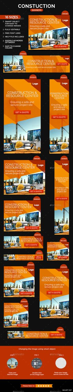 Construction Web Banners Template
