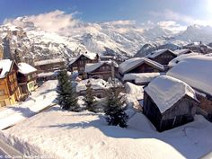 Murren, Switzerland in an excellent snow year.