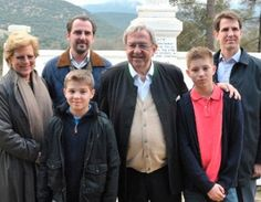 Noblesse & Royautés » Greek Royal Family on a Visit to Loannina, Greece-l-r Queen Anne Marie, Prince Nikolaus, Prince Achileas, King Constantine, Prince Constantine, Crown Prince Pavlos