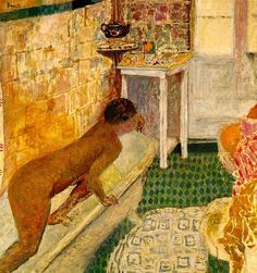 Getting out of the Bath - Pierre Bonnard