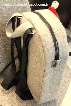 Keçelikalem: Doğuştan smokinli ve çok sevimli:) Kids Bags, Diy And Crafts, Bargello, Backpacks, Dress, Fashion, Personalized Backpack, Feltro, Craft