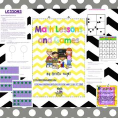 Math Lesson and Games http://www.teacherspayteachers.com/Product/Math-Lessons-and-Games-for-K-2-141503