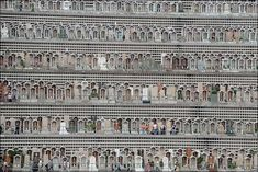 Multi-story graveyard in Hong Kong - photographer unknown