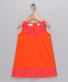 Orange Embroidered Dress - Infant & Toddler  by Nannette (They're out of the size I want!  :-( )