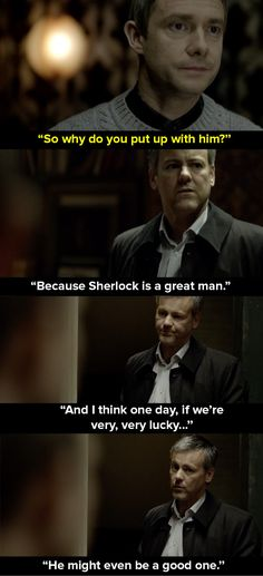 """Update: As <a href=""""https://www.buzzfeed.com/liv1204"""">Liv1204</a> points out below, Lestrade said this about Sherlock in the very first episode of the show."""