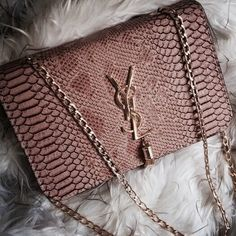 bag, YSL, and Yves Saint Laurent image Prada Handbags, Fashion Handbags, Purses And Handbags, Fashion Bags, Latest Handbags, Gucci Purses, Travel Fashion, Fur Fashion, Daily Fashion