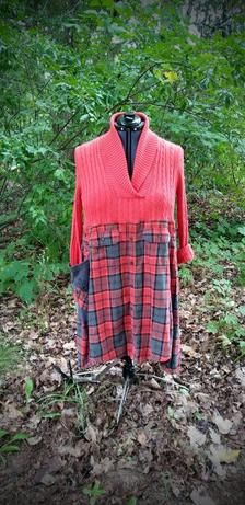 Upcycled shawl collar sweater dress. Soft silk and cashmere | Etsy Diy Clothes Refashion, Sweater Refashion, Cashmere Shawl, Cashmere Sweaters, Shawl Collar Sweater, Flannel Dress, Different Dresses, Upcycle, Silk