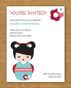 235 best taylor waylor japanese themed birthday party images on these printable and customizable invites are easy and perfect 7 japanese theme parties japanese filmwisefo