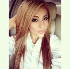 Carmel blonde hair