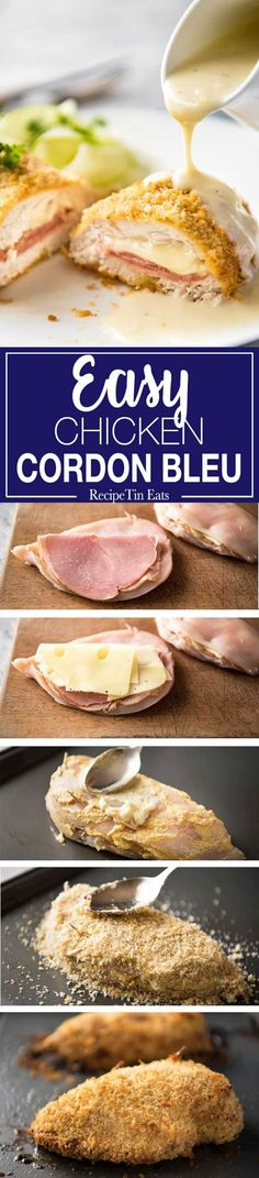 Easy Chicken Cordon Bleu | Love this shortcut version - so easy and quick! Everyone DEVOURED it! www.recipetineats.com