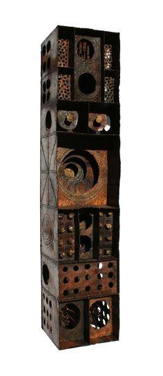 "Paul Evan, circa 1960. polychrome steel welded sculpture, 12"" H x 60"" W x 12"" H."