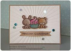 "Geburtstagskarte | birthday cards - Mama Elephant ""Carnival Cupcakes"", Polychromos"
