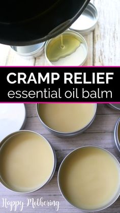 Want to know how to get rid of menstrual cramps with easy DIY home remedies? Learn how to make the best all natural period pain relief salve recipe using essential oils and other ingredients to soothe monthly aches. I use this homemade salve on my stomach and back with my heating pad and tea for my severe cramps. #menstrualcramps #period #cramprelief #balms #salves #naturalremedies #essentialoils #womenshealth #diyremedies #homeremedies #periods #periodproblems #periodpain #periodhacks Natural Remedies For Cramps, Remedies For Menstrual Cramps, Cramp Remedies, Menstrual Cramps Relief, Period Pain Remedies, Essential Oil Menstrual Cramps, Asthma Remedies, Home Remedies, Salve Recipes