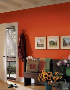 Native American Interior Design-love the wall color Decorating Your Home, Interior Decorating, Decorating Ideas, Interior Paint, Decor Ideas, Autumn Interior, Orange Interior, Colorful Interior Design, American Interior