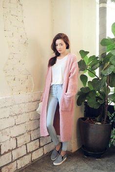 stylenanda knitted long jacket