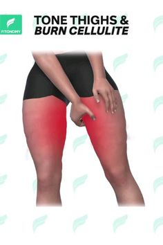 TONE THIGHS &BURN CELLULITE If you want to reduce cellulite and get rid of fat you need to get moving. Try out these exercises to tone thighs and burn that cellulite. Fitness Workouts, Gym Workout Videos, Fitness Workout For Women, Butt Workout, Easy Workouts, At Home Workouts, Fitness Motivation, Workout Routines, Workout Plans