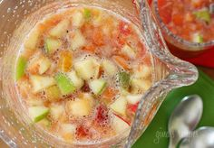 Salpicón - Serving Size 1 cup; 2 pts+; A fresh homemade Colombian fruit beverage. Served cold and loaded with chopped fruit such as watermelon, papaya, strawberries, pineapple, oranges, apples, bananas and carbonated soda. Serve it with a spoon to eat the fruit then drink the juice when the fruit is all gone. Thirst quenching on a hot summer day and perfect as an afternoon snack or dessert.