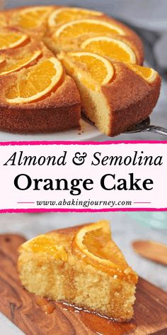 Quick Orange Semolina Cake (Dairy-Free) - A Baking Journey - Easy Dessert Recipes Orange Syrup Cake, Orange And Almond Cake, Lemon Syrup Cake, Vanilla Cake, Semolina Recipe, Semolina Cake, Dinner Party Desserts, Winter Desserts, Easy Cake Recipes