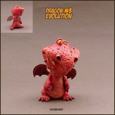 DRAGON number #3 | Dragon Collection | Polymer Clay | BUZHANDMADE