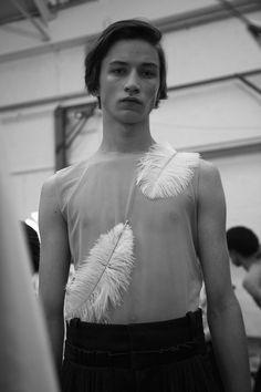 Paul Bonnabry by José Cuevas  - Backstage at J.W. Anderson, SS16