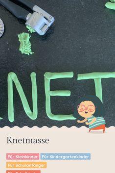 Mit Knetmasse kann man sich viele tolle und kreative Spielideen ausdenken. Wusstest du schon, dass man sie auch ganz leicht in der eigenen Küche herstellen kann? Food Coloring, School Kids, Game Ideas, Toddlers, Play Dough, Games