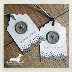 all buttoned up gift tags