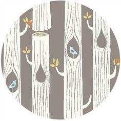Monaluna Circa 52 Tree Stripes Shroom Fabric