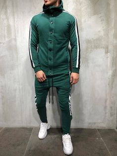 3f7cb2e4bf4 Turtleneck Cotton Tracksuit - Green