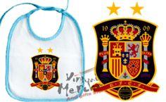 BABERO SELECCION ESPAÑOLA futbol mundial 2014 AZUL O ROSA bebe bib personalizado | eBay