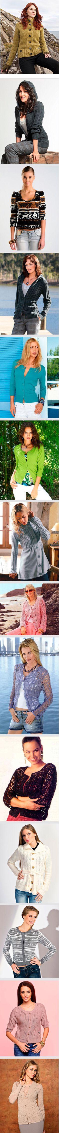 Вязание женской кофты спицами. Фото, схемы и описание