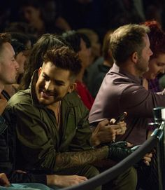 Adam Lambert in the front row at the Los Angeles Fashion Week.
