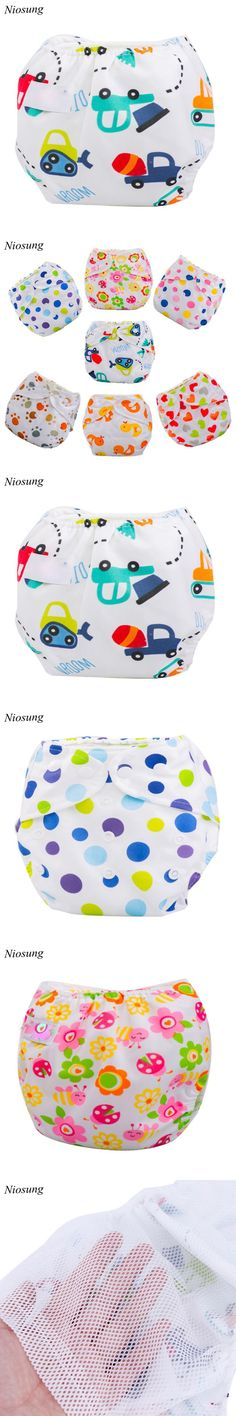 Niosung New Newborn Baby Summer Cloth Diaper Cover Adjustable Reusable Washable Nappy Baby Care $1.77