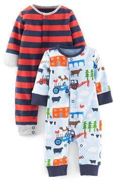 Mini Boden Cotton Rompers (2-Pack) (Baby Boys) available at #Nordstrom