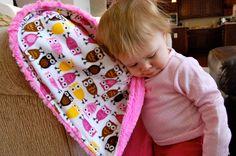 Baby Blanket  Robert kaufman Owls minky with by NanaKidsDesigns, $35.00