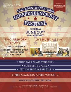 Check out the Independence Day Festival 2014 at the Hill Country Galleria.