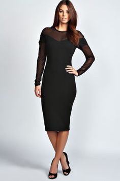 Lucy Sweetheart Neck Bodycon Midi Dress