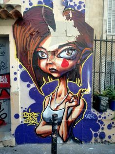 Dire 132 - street art - Marseille 6 / cours julien, rue bedarrides (aout 2014)
