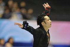 Japan's Daisuke Takahashi performs in the men's free skating event at the World Team Trophy figure skating competition in Tokyo on April 12, 2013.