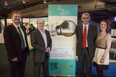The Big Eco Show (April 2013) speakers (Ted Salmon, FSB), Tony Mullarkey (Potts Print), Tim Cantle-Jones (Green Deal Plans) & Lisa French.