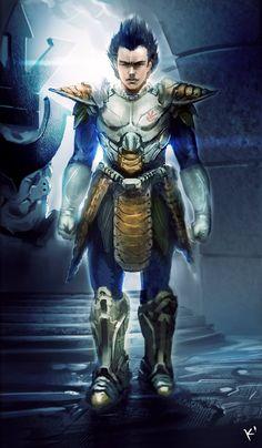 Dragonball Z Vegeta in armor by kclub.deviantart.com on @deviantART